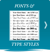 boat lettering fonts and type