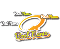Custom boat name design